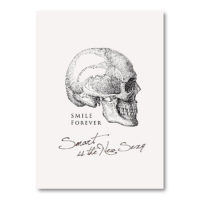 TWY180113_科學明信片 - 頭骨 (Smile Forever) Science Postcard - Smile Forever (Skull)